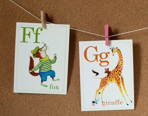 Mini Animal ABC Flashcards - Set of 26