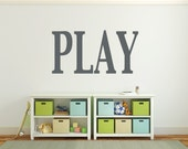 Large playroom letters wall decal, DB338