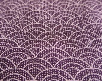 FREE SHIPPING Gentle Waves Fabric in Dark Purple - Japanese Cotton Fabric - (F037) - Fat Quarter