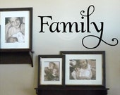 Family    vinyl lettering wall decal sticker art