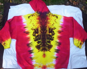 Fire Roots Zip Hoodie Tie Dye - Sizes S - 3X