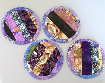 8.95 Coaster sale- Wine Theme Coasters- set of four- was 10.95