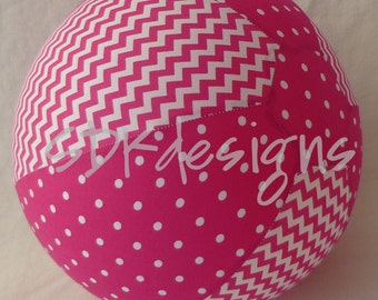 Balloon Ball - PINK Chevron and Polka Dot - perfect birthday TOY or Decor for all Ages