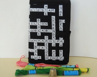 Crossword Needle Book, Needle Case, Hand Sewing Organizer