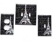 Double Light Switch Cover / Eiffel Tower Switchplate / Single Switchplate / Electrical Outlet Cover