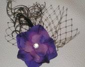 Hair Fascinator, Feathered Hair Fascinator, Wedding Hair Accessories, Bridesmaids, Flower Girl