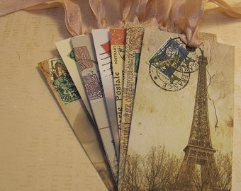 Paris Tags - Eiffel Tower Tags - Tags for Men - Tags for Women - Set of 8