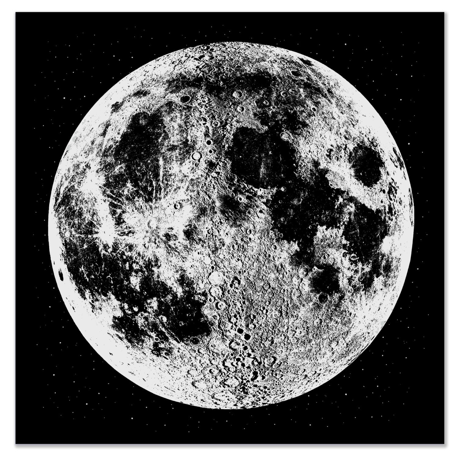 Punchy image for printable moon