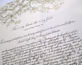 Hebrew and English Ketubah calligraphy - on Raichman print