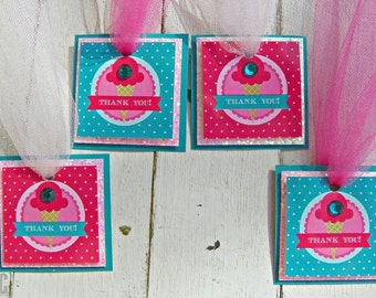 Ice Cream Scoop Favor Tags...Set of 12 Favor Tags