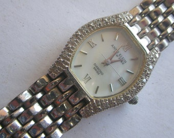 Anne Klein DIAMOND/Mother of Pearl Ladies Watch.