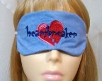Heartbreaker Embroidered Sleep Mask