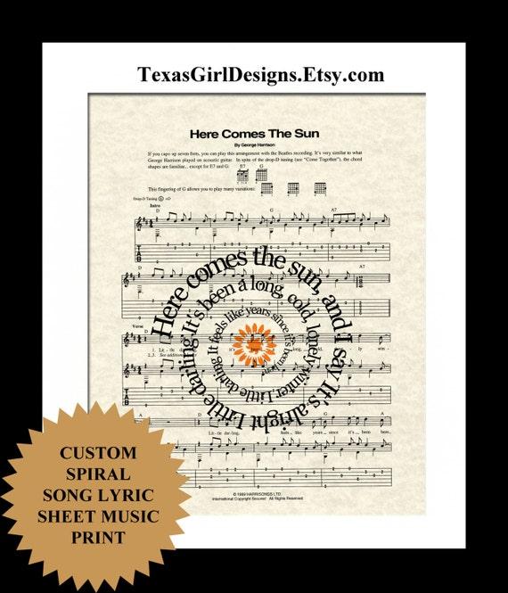 Dancing On My Own Sheet Music With Lyrics: Song Lyric Custom Sheet Music Print Favorite By