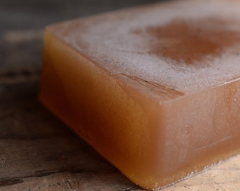 Ginger Bourbon Soap - Spicy Ginger, Wet Tobacco, Lime Peel - Handmade Glycerin Soap