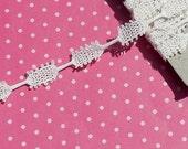 Vintage Lace Trim Antique Lace Cotton Turtle Braid Off White