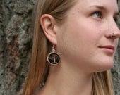 Wood Tree of Life Earrings- in Oregon Myrtlewood (MOD 18)- Wooden Jewelry, Boho Jewelry