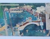 Vintage FLORIDA postcard Venetian Pool Coral Gables (Used) 1955