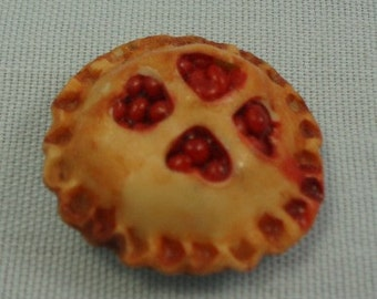 Handmade Miniature Strawberry Pie for the dollhouse by Ann Fisher