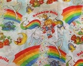 VINTAGE. Rainbow Brite Twin Fitted Bed Sheet. for the 80s kid.