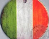 Irish Flag & Nollaig Shona Duit ( Irish for Merry Christmas.) Porcelain Ornament. DOUBLE-SIDED