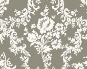 Riley Blake, Lost and Found 2, Damask, Gray, My Minds Eye, Designer Cotton Quilt Fabric, Grey and White, Quilting Fabric