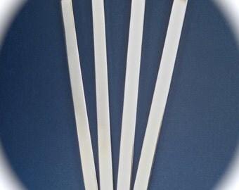 "25 Blanks 3/8 x 6"" Bracelet Cuff 14 Gauge Food Safe Aluminum Metal Stamping Blanks 25 Cuffs - Flat"