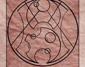 Doctor Who in Gallifreyan art print