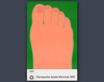 Olympic Games 1972 Munich / Original Art Poster by Tom Wesselmann // OLYMPICS