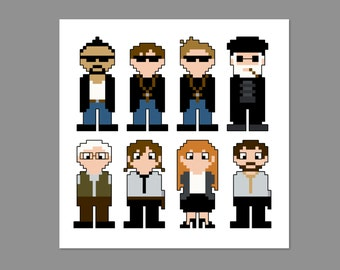 Boondock Saints 2 Pixel People Character Cross Stitch PDF PATTERN ONLY