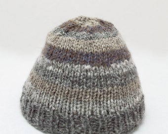 Luxe Newborn Browns Greys American Hand knit Hat
