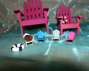 Miniature Shellback Metal Chair-Choose your color-Fairy garden furniture-Vintage chair replicas