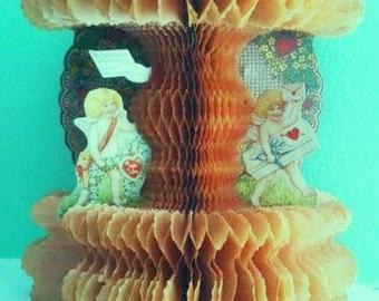 Vintage Valentine 1920's Embossed Die Cuts n TissuePopOut
