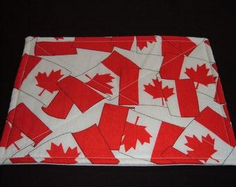 2 Canadian Flag Mug Rugs