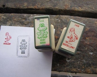 2 x Vintage School Classroom Stamps Excellent & Very Good Great for Teachers