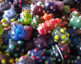 Funky bumpy beads