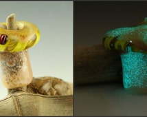 glow in the dark mushroom , glass bead mushroom , magic for your dreads