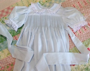 Ready to Smock Made to Order Pima Batiste Yoke Style Dress size 1,2 or 3 French handsewn