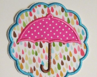 Iron On Applique - Rainy Day Umbrella Scallop