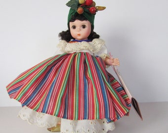 """Vintage Madame Alexander Doll 8"""" International Series Brazil #547 Excellent w Box and Tag"""