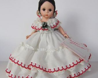 """Vintage Madame Alexander Doll 8"""" International Series Panama #555 Excellent w Box and Tag"""