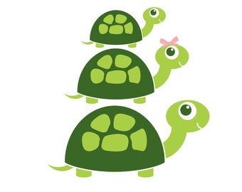 Turtle Wall Decal - Frog Pond Decor - Turtle family wall decals - Turtle wall decor - boys room woodland marsh wall decals - turtle family