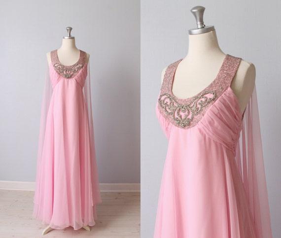 Vintage 1960s Wedding Dresses: Vintage 1960s Dress / Formal Dress / Evening Dress / Prom