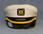 Personalized Yacht CAPTAIN'S HAT perfect for Sailing and any Nautical or Sea Worthy occasion Style #200