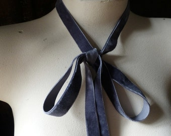 2 YARDS Velvet Ribbon in GRAY for Jewelry or Costume Design, Millinery, Couture, Floral Supply VL 171gray