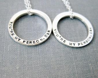 Personalized Necklace Set - Petite Memory Ring Set, Best Friend Set, Mother Daughter Necklace Set, BFF Necklace Set