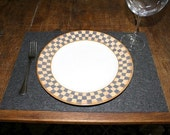 Rectangle Tabletop Felt Placemats in 3mm Thick Virgin Merino Wool Eco Friendly Felted Wool Fabric rectangular Place Mat