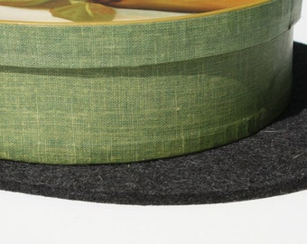 Mini Table Runner Centerpiece Thick Wool Felt Fabric Felted Tabletop Furniture  Protector Desk Mat Surface Saver
