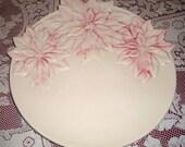 Gorgeous Poinsettias Platter Vintage Large
