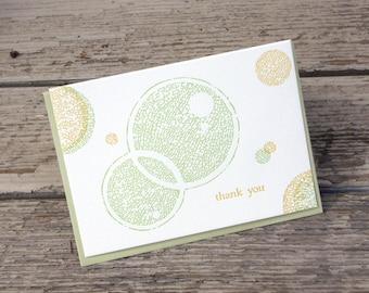 Circles Thank You Letterpress Card
