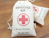 "100 Personalized Hangover Kit Favor Bags 3.25"" x 5"" -   DIY Funny Wedding Favors. Gag Gifts for guests"